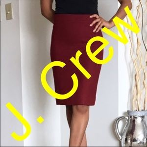 "J. Crew "" No. 2 Pencil "" skirt sz 10"